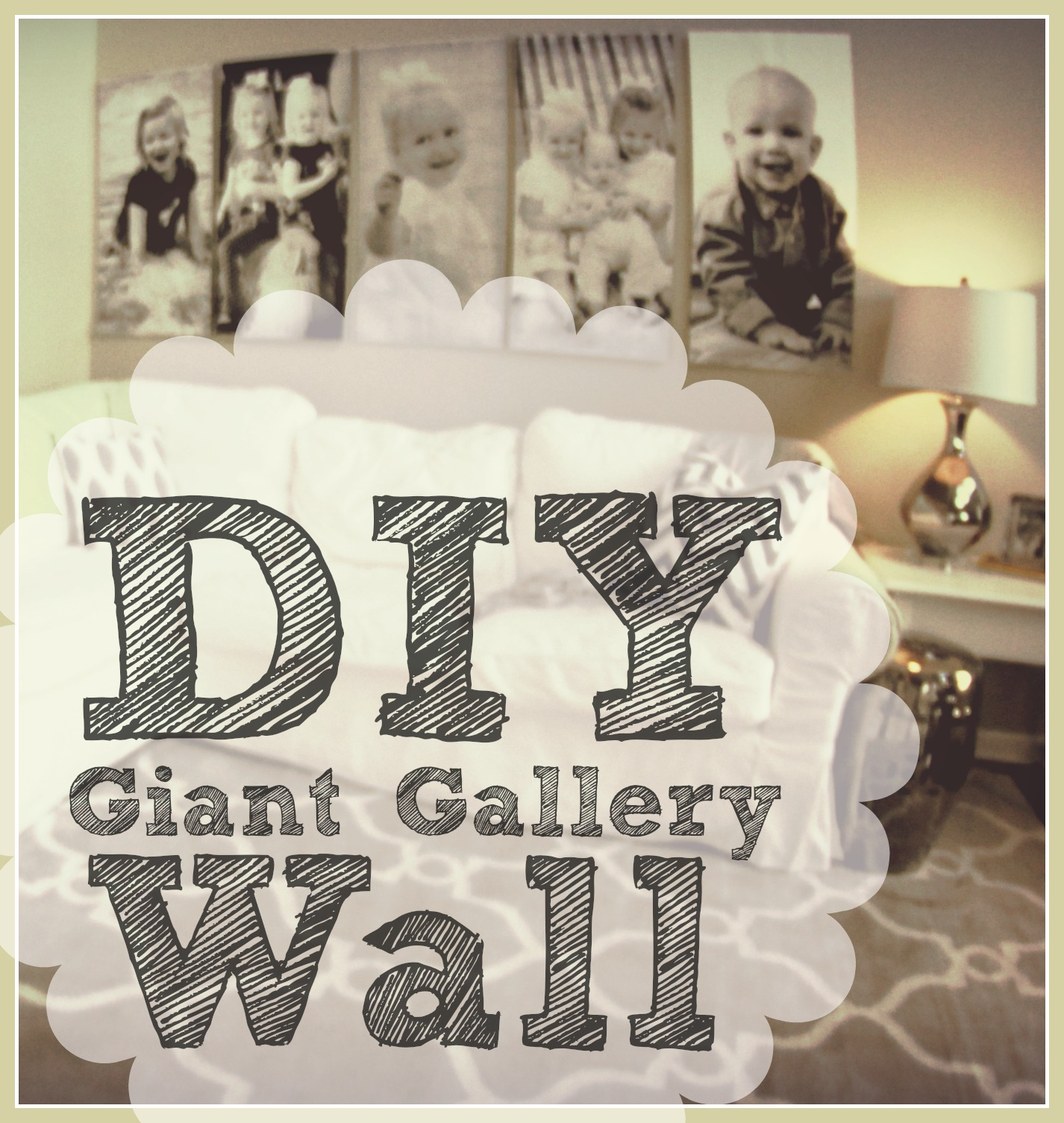 As soon as I posted pictures on Facebook and Instagram that showed my living room redo in the background one of the constant questions I started getting ...  sc 1 st  Keren Threlfall & DIY: Giant Black and White Photo Wall Art - Keren Threlfall